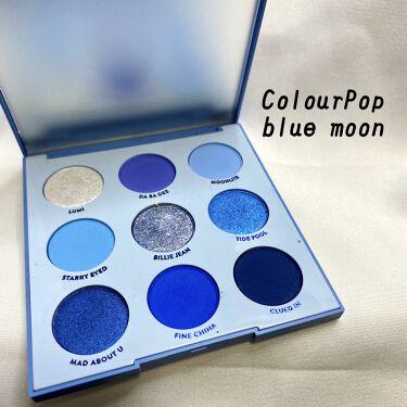 blue moon/ColourPop/パウダーアイシャドウを使ったクチコミ(1枚目)