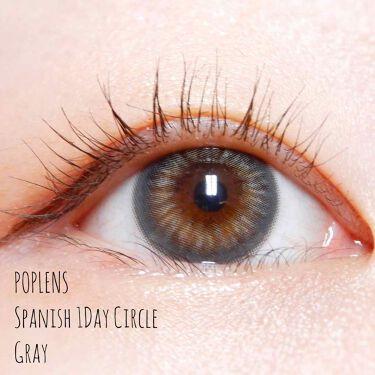 Spanish 1Day Circle(スパニッシュワンデーサークル)/POPLENS/カラーコンタクトレンズを使ったクチコミ(1枚目)