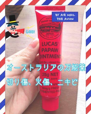ルーカス ポーポークリーム/LUCAS' PAPAW REMEDIES/フェイスオイル・バームを使ったクチコミ(1枚目)