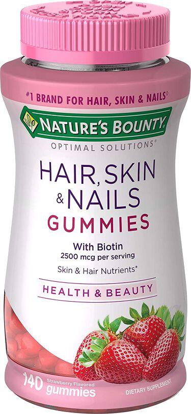 Optimal Solutionsスキン ネイル グミ いちご風味 80粒 NATURE'S BOUNTY