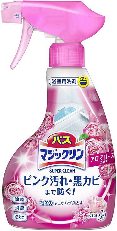 バスマジックリン泡立ちスプレー SUPER CLEAN アロマローズの香り 本体 380ml