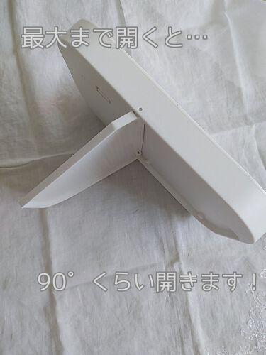 枠が光るLED付ミラー スクエア/DAISO/その他化粧小物を使ったクチコミ(6枚目)