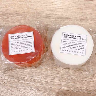 ハンドメイドボタニカルソープ 酒粕/コメ/MARKS&WEB/ボディ石鹸を使ったクチコミ(1枚目)