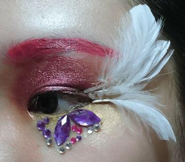 【画像付きクチコミ】私流アートモードメイク♪※画像2~4枚目は、目のアップ画像です(><)思いっきりモードなアートメイクがしたかったので、やってみました(^_^)使ったコスメの一部・眉毛→アピュぼのぼのカラーリップペンシルCR04・マスカラ→TONYMO...