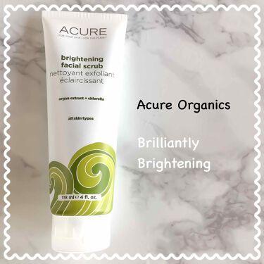 Brightening facial scrub/美白スクラブ洗顔料/Acure Organics/その他洗顔料を使ったクチコミ(1枚目)