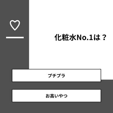 twinkle_make_qv1 on LIPS 「【質問】化粧水No.1は?【回答】・プチプラ:50.0%・お高..」(1枚目)