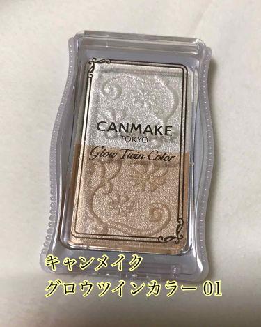 グロウツインカラー/CANMAKE/パウダーアイシャドウを使ったクチコミ(3枚目)