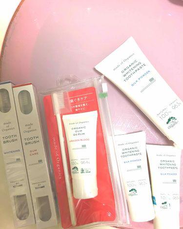 ホワイトニングトゥースペースト シルクパウダー/メイド オブ オーガニクス/歯磨き粉を使ったクチコミ(1枚目)