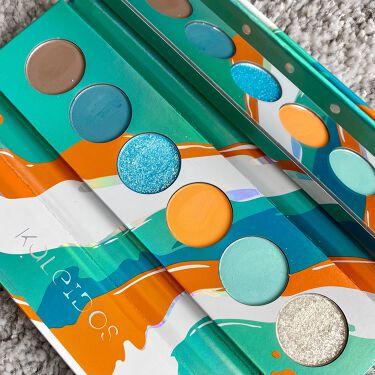 Futurism V: Electro-Turquoise/Kaleidos Makeup/パウダーアイシャドウを使ったクチコミ(4枚目)