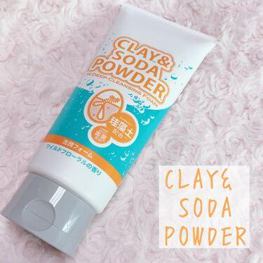 クレイ&ソーダパウダーインディープクレンジングフォーム/株式会社イヴ/洗顔フォームを使ったクチコミ(1枚目)