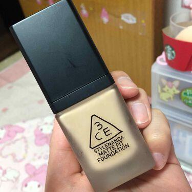MATTE FIT FOUNDATION/3CE/リキッドファンデーション by あすかたん