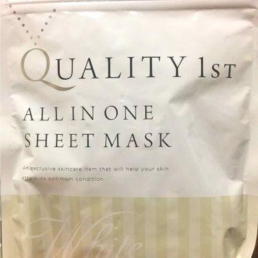 wahrheit15さんの「クオリティファーストオールインワンシートマスク ホワイトEX<シートマスク・パック>」を含むクチコミ