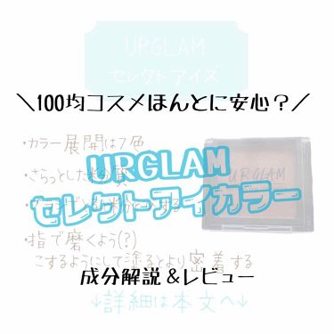 UR GLAM  セレクトアイズ/DAISO/パウダーアイシャドウを使ったクチコミ(1枚目)