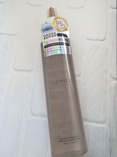 イオニコ プレミアムイオン クイックリペアウォーター (毛髪美容補修水)/IONICO/洗い流すヘアトリートメントを使ったクチコミ(1枚目)