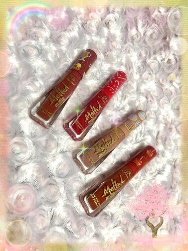 【画像付きクチコミ】トゥーフェイスド🎄クリスマスこんにちは😃TooFaced購入品紹介です🎀クリスマスメルテッドキスリキッドリップスティックセット⭐️どの色も可愛いですよね💕それぞれ香りも違っていて美味しい香りがします。秋冬に使えるカラーは唇にフィットし...