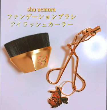 ペタル 55 ファンデーション ブラシ/shu uemura/メイクブラシを使ったクチコミ(1枚目)