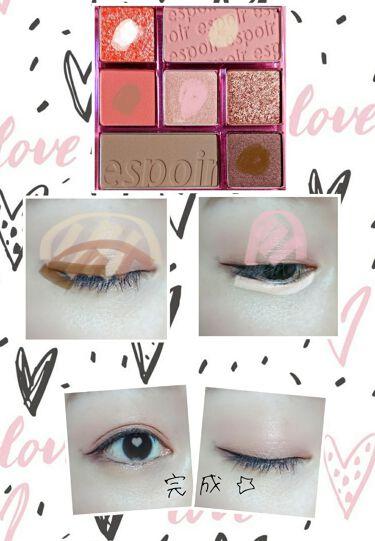 Real eyepallet/espoir(エスポワール/韓国)/パウダーアイシャドウを使ったクチコミ(2枚目)