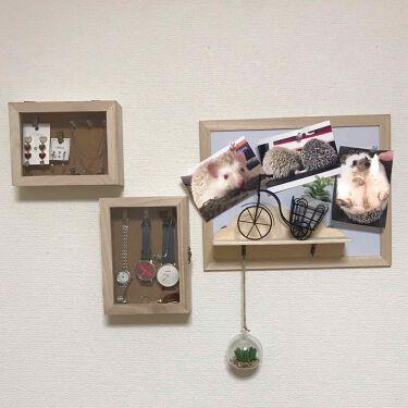 NiL on LIPS 「壁に穴開けちゃダメだけど壁をオシャレに飾りたい💭と思い、飾って..」(2枚目)