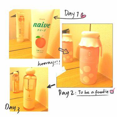 洗顔フォーム(桃の葉エキス配合)(旧)/ナイーブ/洗顔フォームを使ったクチコミ(1枚目)