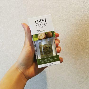 【画像付きクチコミ】今まで指の保湿を怠っていたのですが、オイルを塗ることにより見栄えが格段に変わります!!#隠れ名品#opi