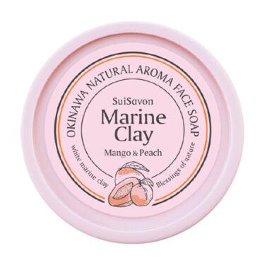 琉球のホワイトマリンクレイ洗顔石鹸 マンゴー&ピーチの香り