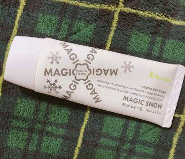 MAGIC SNOW CREAM/APRILSKIN/フェイスクリームを使ったクチコミ(1枚目)
