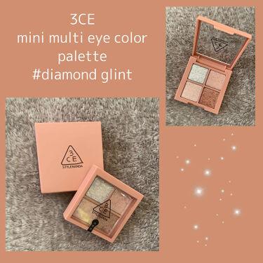 MINI MULTI EYE COLOR PALETTE/3CE/パウダーアイシャドウを使ったクチコミ(1枚目)
