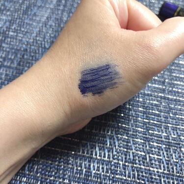 【画像付きクチコミ】キスミーフェルムスタイリングマスカラ02ダークブルー安いカラーマスカラ(ブルー系)を探していたところこれが見つかりました。ブラシも細めで塗りやすい写真では見にくいですが藍色って感じの綺麗な色。特別な機能は謳ってない実にシンプルなマスカ...