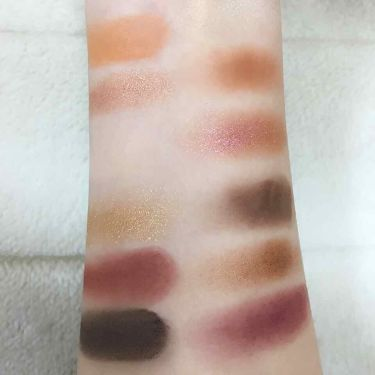 into the sunset eye color palette /NYX Professional Makeup/パウダーアイシャドウを使ったクチコミ(3枚目)