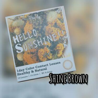 ハローサンシャイン/Hello Sunshine/カラーコンタクトレンズを使ったクチコミ(3枚目)