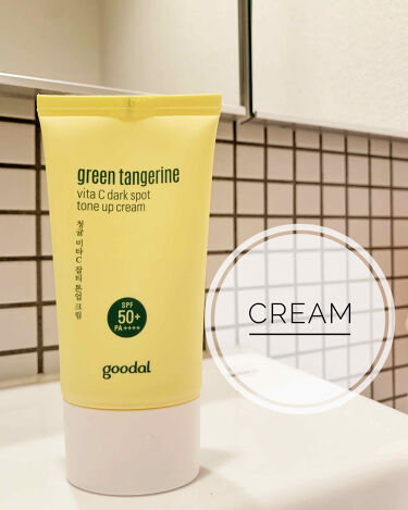 グリーンタンジェリンビタCダークスポットトーンアップクリーム/goodal/化粧下地を使ったクチコミ(1枚目)