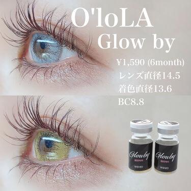 グローバイ(Glow by)/OLOLA/カラーコンタクトレンズを使ったクチコミ(2枚目)