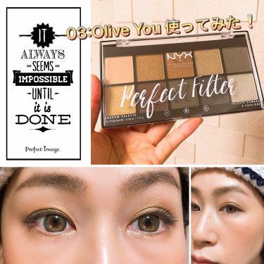 パーフェクトフィルター シャドウ パレット/NYX Professional Makeup/パウダーアイシャドウを使ったクチコミ(1枚目)