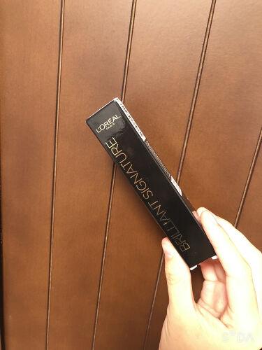 ブリリアントシグネチャー/ロレアル パリ/口紅を使ったクチコミ(1枚目)