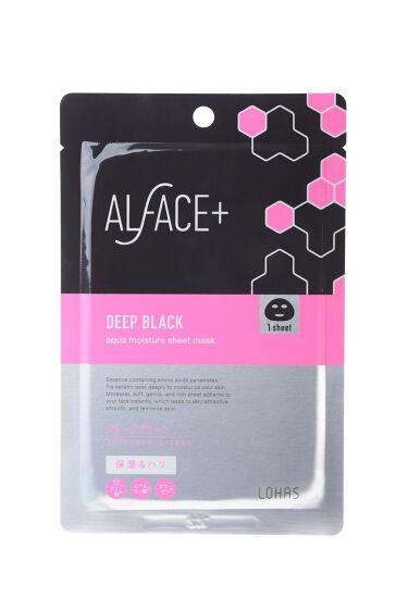 ディープブラック アクアモイスチャー シートマスク ALFACE+