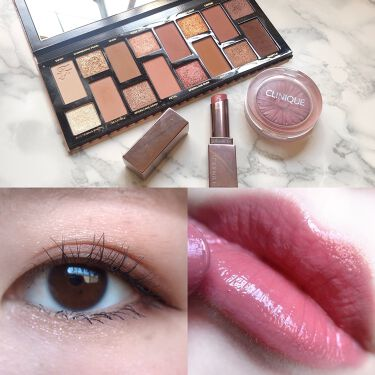 【画像付きクチコミ】・\#todaysmake/・アイシャドウ☑︎#toofaced#THENATURALNUDESチーク☑︎#CLINIQUE#ブラックハニーポップリップ☑#LUNASOLローズピンク・・いいね!コメントありがとうございます🥺...