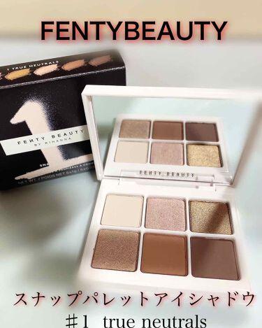 Snap shadows mix & match eyeshadow palette/FENTY BEAUTY BY RIHANNA/パウダーアイシャドウを使ったクチコミ(1枚目)