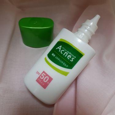 薬用UVティントミルク/メンソレータム アクネス/化粧下地を使ったクチコミ(2枚目)