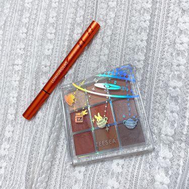【画像付きクチコミ】お洒落なブラウン系、9色アイシャドウパレット🤎テラコッタオレンジ、キャメル系、ブラウン全体的にブラウン×オレンジのパレットがラメもマットシャドウも配色されていて、使いやすい!!!9色アイシャドウパレットZEESEAクォーツ9色アイシャ...