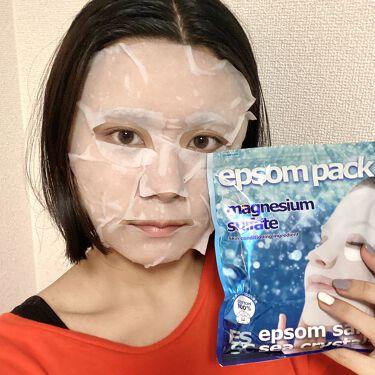 【画像付きクチコミ】シークリスタルス エプソムパック有名なエプソムソルトが、フェイスマスクになった商品です!✨エプソムソルトで入浴後、お風呂上がりにつけてみました。エプソムパックは、エプソムソルトの海水と同じ0.2%、ヒアルロン酸Na、水溶性コラーゲン、...
