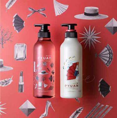 PYUAN DEARING(ローズ&ガーネットの香り)/メリット ピュアン/シャンプー・コンディショナーを使ったクチコミ(2枚目)
