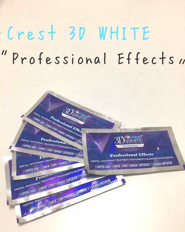 クレスト3Dホワイトニング ホワイトストリップ プロフェッショナル エフェクツ/クレスト/その他を使ったクチコミ(1枚目)