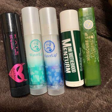 👿かなざわ👿 on LIPS 「自分で購入した薬用リップ達です。個人的には右の緑と青と緑が好き..」(1枚目)