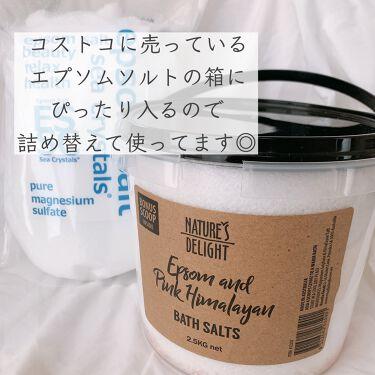 シークリスタルス エプソムソルト オリジナル/sea crystals/入浴剤を使ったクチコミ(3枚目)