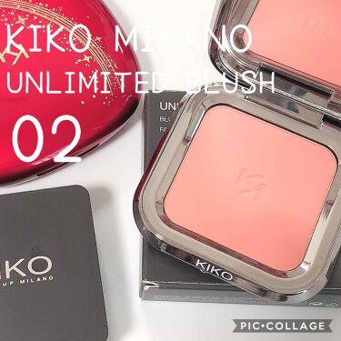 UNLIMITED BLUSH/KIKO/パウダーチークを使ったクチコミ(1枚目)