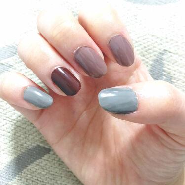 【画像付きクチコミ】親指/小指💙NL05(イブニングヴィレッジ)人差し指/中指💗NL03(ロマンティッククローゼット)薬指❤️NL13(ホットサングリア)トップコートはnailholicのスモーキーSP043写真見てもらえればお分かりの通りトップコートが...