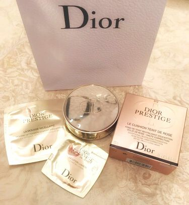 プレステージ ル クッション タン ドゥ ローズ/Dior/その他ファンデーションを使ったクチコミ(4枚目)