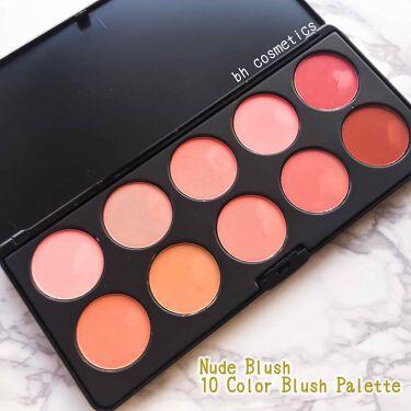 BH Cosmetics Professional Blush - 10 Color Blush Palette/bh cosmetics/パウダーチークを使ったクチコミ(1枚目)