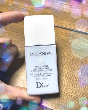 スノー メイクアップ ベース UV35 SPF35/PA+++/Dior/化粧下地を使ったクチコミ(1枚目)