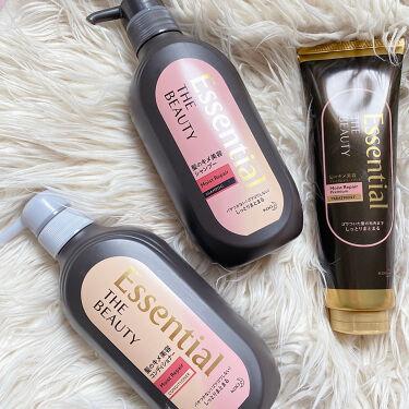 Essential THE BEAUTY 髪のキメ美容プレミアムトリートメント<モイストリペアプレミアム>/エッセンシャル/洗い流すヘアトリートメントを使ったクチコミ(5枚目)